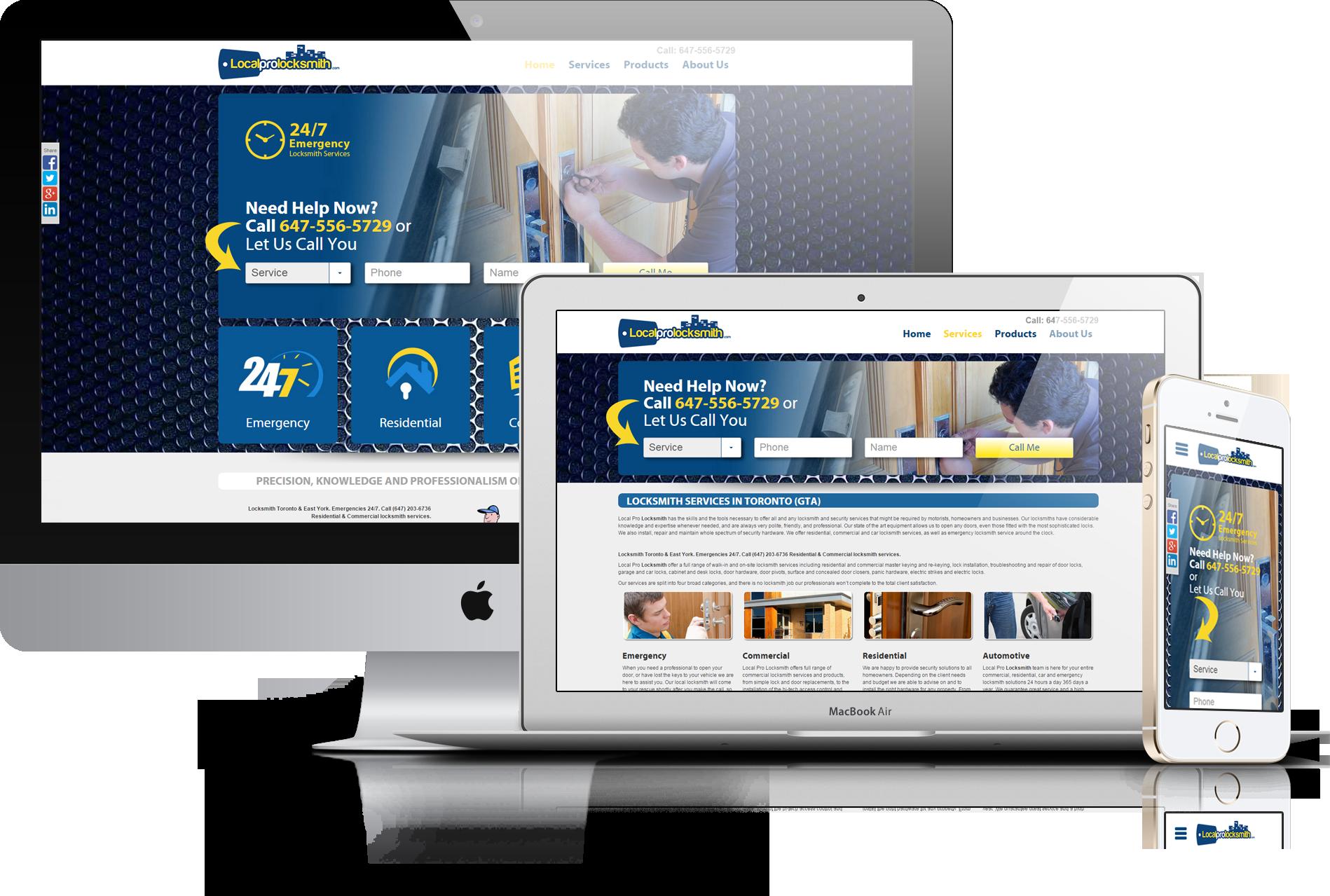 locksmith website design