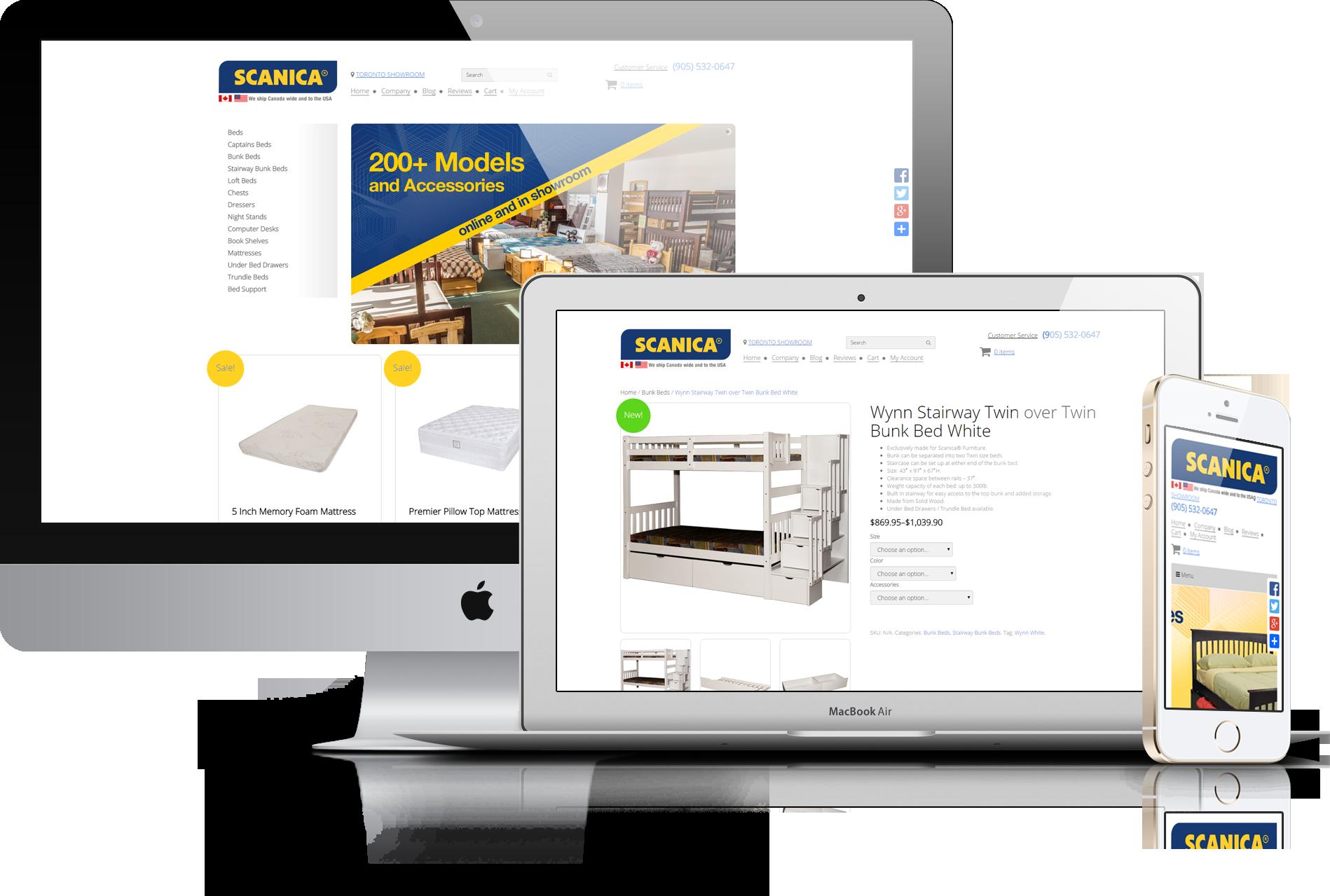 ecommerce furniture website design